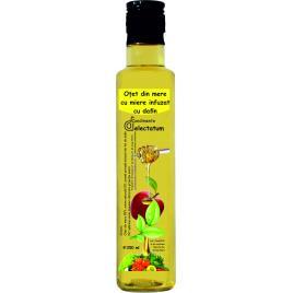 Oțet de mere cu miere infuzat cu dafin – 250 ml