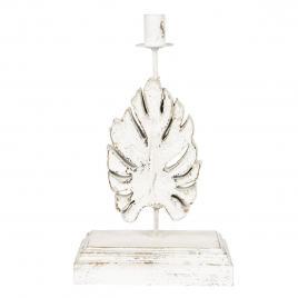 Baza veioza din lemn alb antichizat 31 cm x 21 cm x 54 h