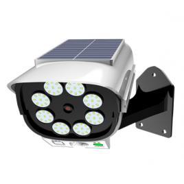 Camera falsa cu lampa solara, 80 led, senzor de miscare