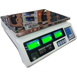 Cantar electronic digital sonashi 40 kg,cu acumulator si afisaj dublu