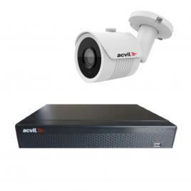 Kit  de supraveghere format din 1 camera acvil ahd-ef30-4k, 8 mp, ir 20 m, 2.8 mm + dvr ahd acvil xvr5104-4k, 4 canale, 8 mp