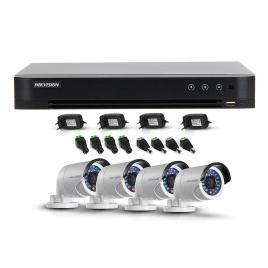 Sistem supraveghere exterior hikivision tvi-4ext20-720p, 4 camere, 1 mp, ir 20 m - ds-7204hqhi-k1    ds-2ce16c0t-irpf