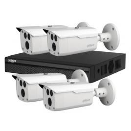 Sistem supraveghere exterior basic dahua dh-b4ext80-2mp, 4 camere, 2 mp, ir 80 m