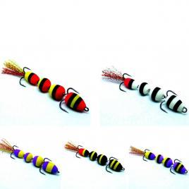 Montura salau, pescuit la salau, stiuca, somn, pe substrat cu jig articulat, set 5 buc