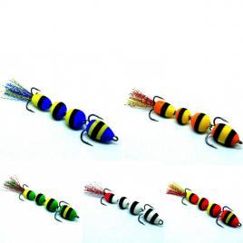 Naluci soft pescuit la salau, stiuca, somn, cu jig articulat, set 5 buc