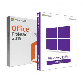 Windows 10 Pro + Office Pro Plus 2019 - ambele RETAIL + tutorial video / asistenta - 32/64 bit - toate limbile