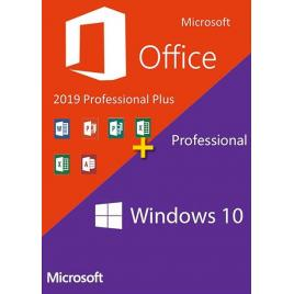 Windows 10 Pro + Office Pro Plus 2019 - ambele RETAIL - + tutorial video / asistenta - 32/64 bit - toate limbile