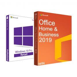 Windows 10 Pro RETAIL + Office Home and Business 2019 + tutorial video / asistenta ambele - 32/64 biti - Toate limbile