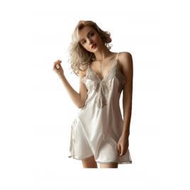 Camasa de noapte, OEM, nylon, alb, one size INTL, set 2 piese