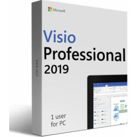 Microsoft Visio Professional 2019 retail 32/64 bit licenta electronica