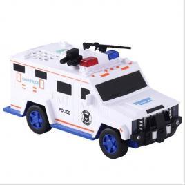 Pușculiță electronică sub forma unei mașini de poliție,cash truck