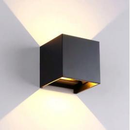 Aplica led pentru fatada, doua fascicule (sus/jos),  idependenta a unghiului de dispersie a luminii