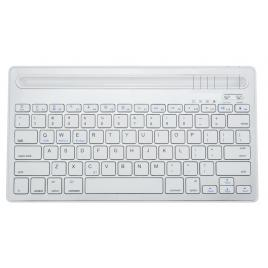 Mini Tastatura CK-03, Universala 2 in 1, Suport Integrat, Smartphone, Tableta, PC, BT 3.0, Android, Ios, Windows, Macbook, Alb