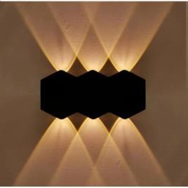 Aplica de perete pentru exterior,model arhitectural, lumina calda 2086