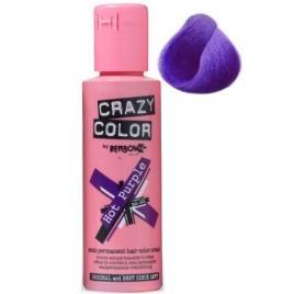 Crazy color vopsea nuantatoare semipermanenta 100 ml -  hot purple  nr.62