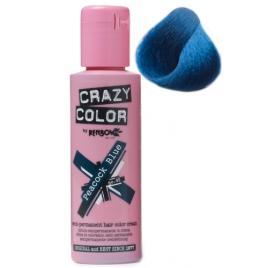Crazy color vopsea nuantatoare semipermanenta 100 ml -  peacock blue  nr.45