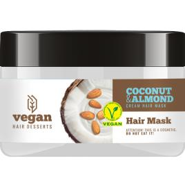 Masca de par   vegan dessert  spa   cu crema de cocos si migdale pentru ,hidratare,regenerare si netezire  250 ml cod.0288