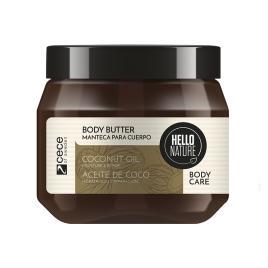 Unt de corp bio hello nature cu ulei de cocos pentru hidratarea si intarirea pielii degradate.250 ml cod.1528.