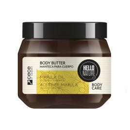Unt de corp hello nature natural cu ulei  bio din fructul marula pentru netezire si luciu a pielii .cod 1532 /250  ml