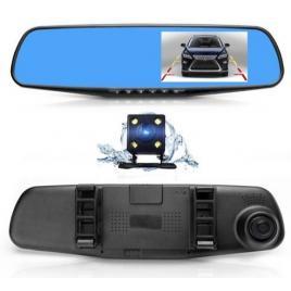 Camera video auto dubla tip oglinda full-hd 1080p display 4.3