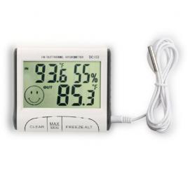 Termometru si higrometru digital pentru interior/exterior, senzor exterior 1m,...