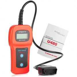 Interfata tester diagnoza auto can obd2 u480 cu afisaj propriu