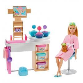 Set de joaca barbie - o zi la salonul spa