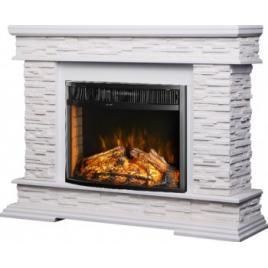 Semineu Electric Stone White MDF/WPB/GIPS and Ararat 1500W/Telecomanda/Sunet