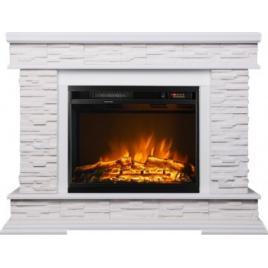 Semineu Electric Stone White MDF/WPB/GIPS and Lorance 1500W/Telecomanda