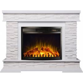 Semineu Electric Stone White MDF/WPB/GIPS and Zakithos 1500W/Telecomanda