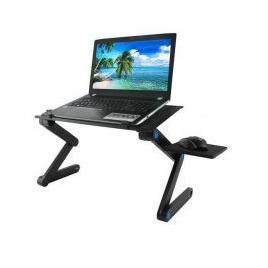 Masa / Stand Laptop Ajustabil negru din aluminiu si ventilatie coller USB