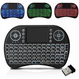 Mini Tastatura wireless 2.4 GHz iluminata RGB pentru TV Box si Mini PC Android OS Smart TV