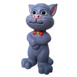 Pisica Talking Tom, Interactiva, Functii Tactile, Inregistrare, Vorbire, Model Imbunatatit, Gri, 30cm