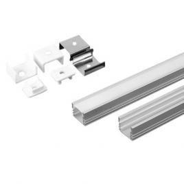 Profil aluminiu pentru banda led 2m 17.4mm x 12.1mm mat