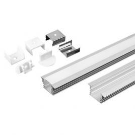 Profil aluminiu pentru banda led 2m 24.5mm x 12.2mm mat