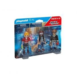 Set 3 figurine hoti playmobil city action