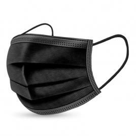 Pachet  100 de cutii X 50 de bucati  masti de protectie negre, 3 straturi,  3 pliuri de unica folosinta, negre, OEM