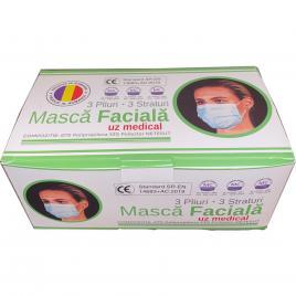 Pachet de 10 cutii - Set 50 de masti de protectie medicale avizate,  BFE ≥95%