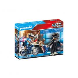 Playmobil city action - politist pe bicicleta si hot