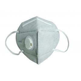 Set 10 Masti cu 5 straturi de protectie respiratorie si supapa pentru expiratie, standard KN95 , culoare gri, BFE>95