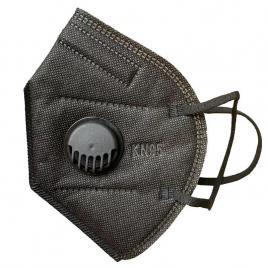 Set 10 Masti cu 5 straturi de protectie respiratorie si supapa pentru expiratie, standard KN95 , culoare negru, BFE>95