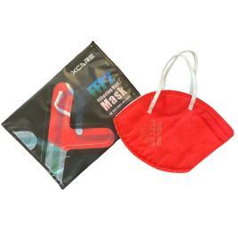 Set 10 Masti de protectie respiratorie si supapa pentru expiratie, standard KN95 / FFP2 , culoare rosu, BFE>95, ambalate individual, CE 0370