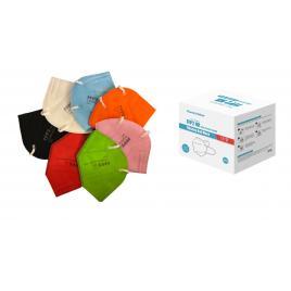 Set 30 de masti de protectie standard KN95 /FFP2 ambalate individual , multicolor , CE2797,  5 straturi , de unica folosinta