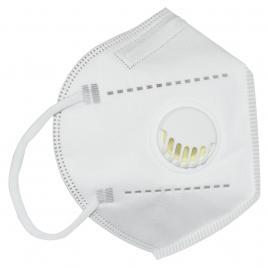 Set 5 Masti cu 5 straturi de protectie respiratorie cu supapa, valva pentru expiratie standard KN95, culoare alb