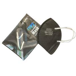 Set 5 Masti negre de protectie respiratorie cu valva, BFE>95, standard KN95 / FFP2, CE0370, ambalate individual, calitate premium