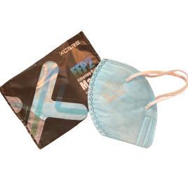 Set de 5 Masti cu 5 straturi de protectie respiratorie si supapa pentru expiratie, standard KN95 , culoare albastru, BFE>95