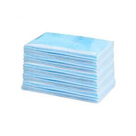Set de 50 de masti de protectie ambalate individual, culoare albastru, 3 straturi, 3 pliuri, OEM