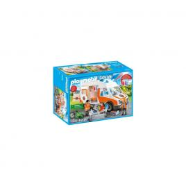 Playmobil city life - ambulanta cu lumini intermitente