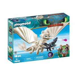 Playmobil dragons - light fury, pui de dragon si copii