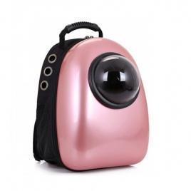 Rucsac transport animale de companie, tip capsula, impermeabil roz